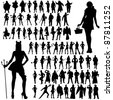 Special Occasion Vector Outfits - stock photo