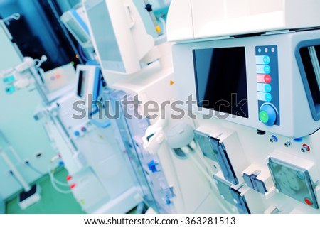 Specialized equipment for medical institutions.