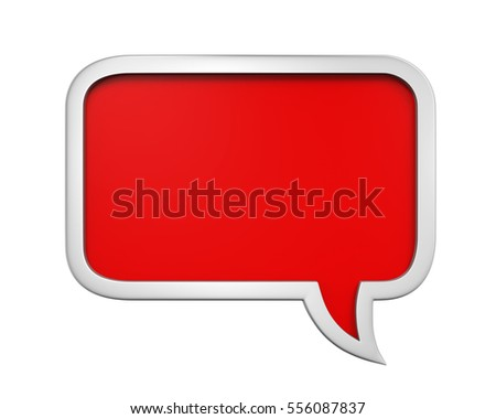 Speech Bubble Isolated. 3D rendering