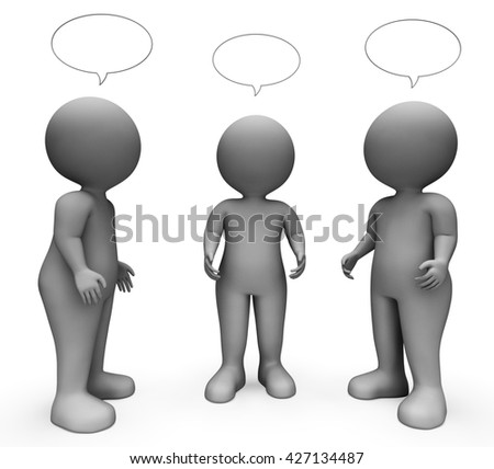 Speech Bubble Showing Copy Space And Contact 3d Rendering