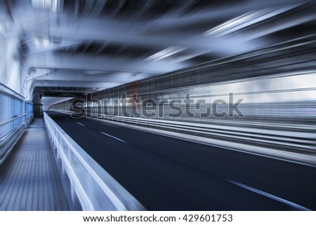 speed blurred highway road