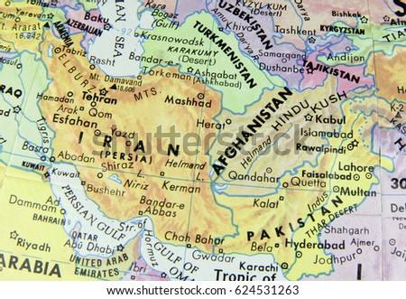 Macro Globe Map Detail Afghanistan Stock Photo - Detailed map of wisconsin