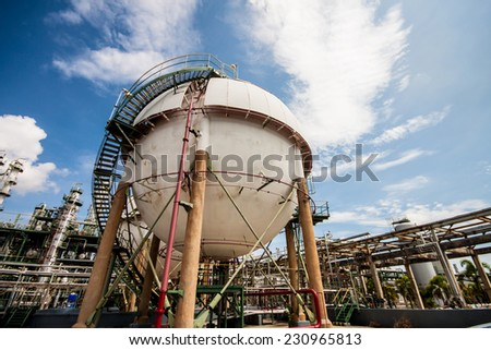 sphere is containing flammable gases in side
