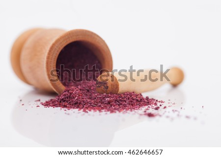 spice sumac isolated on white