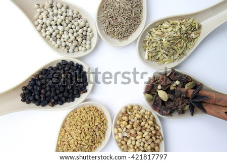 spices and herbs for cooking