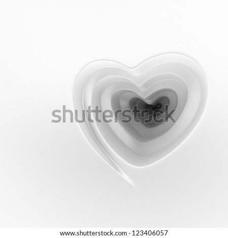 Spiral hole with heart shape. Saint Valentine background