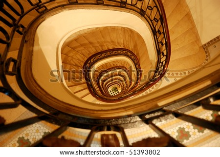 Spiral staircase in Buenos Aires, Argentina
