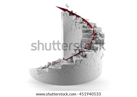 Spiral stairs to success moving ahead carelessly 3d render