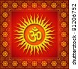 Spiritual Om Sign Background - stock photo
