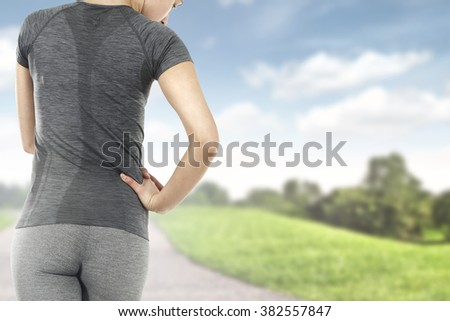 sport of woman on road