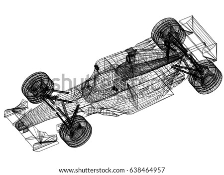 Concept car blueprint 3d perspective stock illustration 595622804 sport race car blueprint 3d perspective malvernweather Image collections