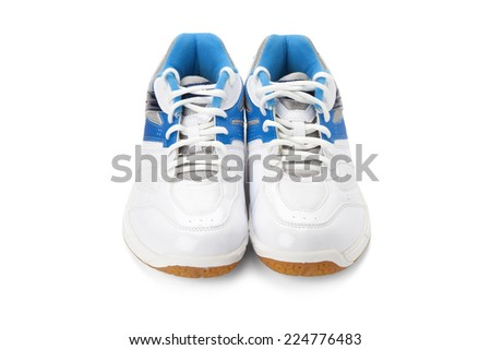 sport shoes isolated on white background with path