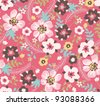 spring floral seamless pattern background - stock photo