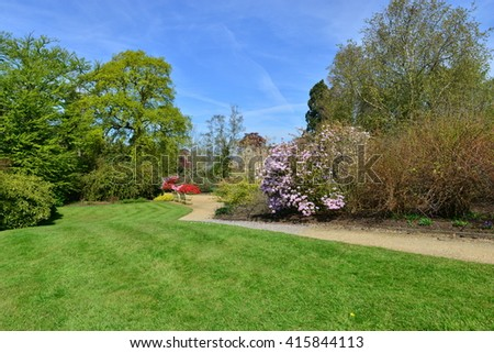 Springtime on an English country estate in the UK