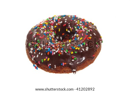 sprinkled ring donut
