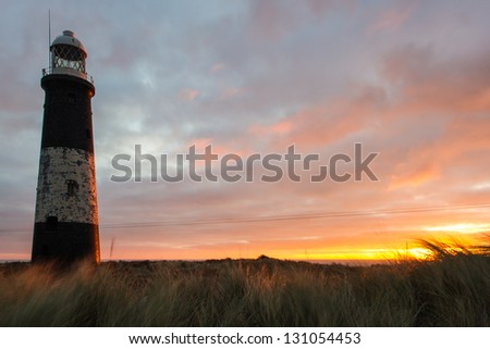 Spurn Head disused lighthouse, East Yorkshire