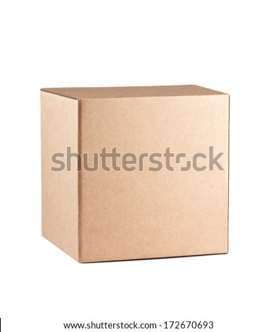 Square box isolated on white background