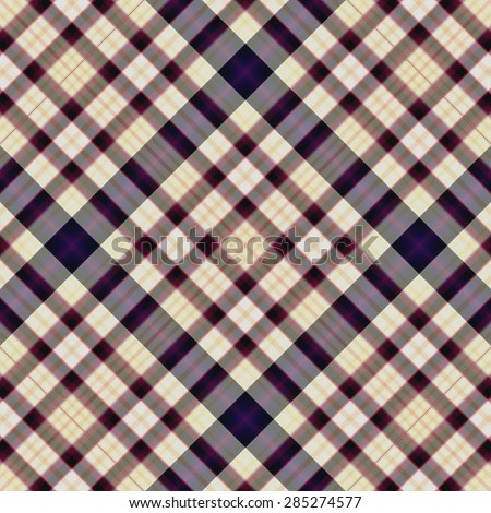 Square seamless check cloth pattern