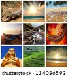 Sri Lanka scene collages - stock photo