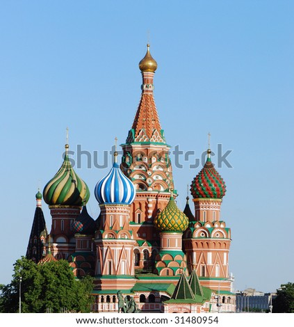 St Basil Cathedral, 16 century, Red Square, Moscow, Russia