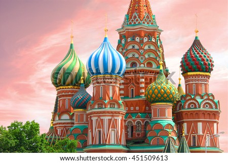 St. Basil's Cathedral in Red Square - Moscow, Russia