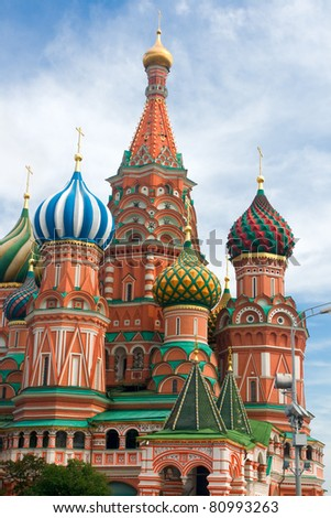 St. Basil's Cathedral on the Red Square in Moscow, Russia