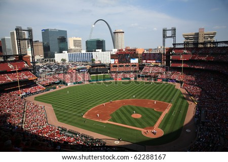 ST. LOUIS - SEPTEMBER 18: A late season baseball game at Busch Stadium between the Cardinals and San Diego Padres, with both teams fighting for a playoff berth, on September 18, 2010 in St. Louis.