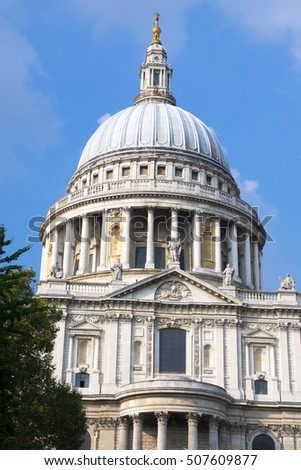 St. Pauls Cathedral in the City of London - LONDON / ENGLAND - SEPTEMBER 23, 2016