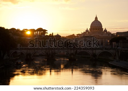 St. Peter's Basilica in Autumn, Rome, Italy