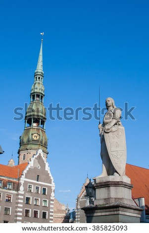 St. Peter's Church in Riga. Latvia