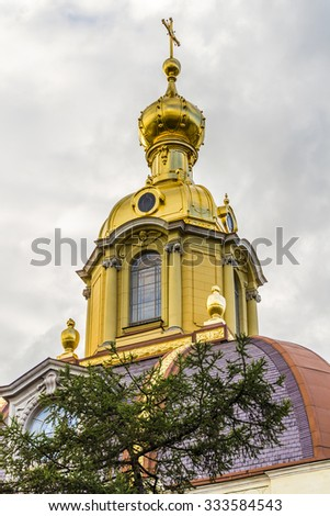 ST PETERSBURG, RUSSIA - JULY 28, 2015: Grand Ducal Burial Vault in Peter and Paul Fortress