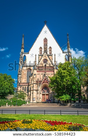 St. Thomas Church in Leipzig, Germany, summer time