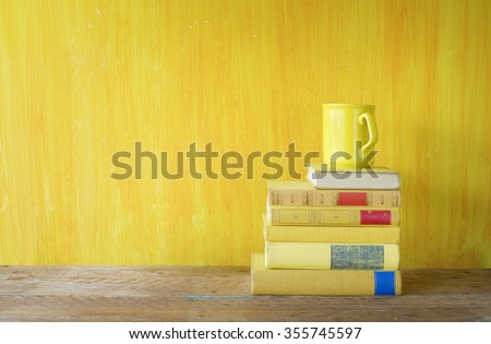 Stack Of Books Cup Coffee Literature Learning Reading Free Copy