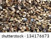 Stack Of Firewood - stock photo