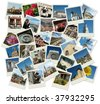 Stack of old shots with central and eastern europe landmarks - stock photo
