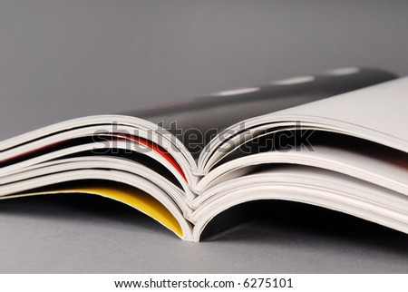 Stack of some different magazines.