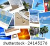 stack of vacation pictures - stock photo