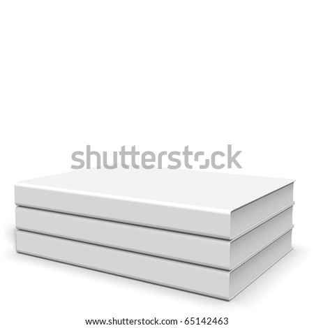 Stack with three hardcover books