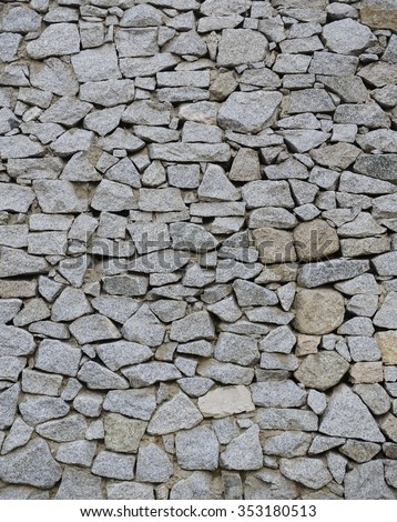 Stacked stone wall texture background