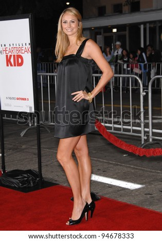 "Stacy Keibler at the Los Angeles premiere of ""The Heartbreak Kid"" at Mann's Village Theatre, Westwood, CA. September 28, 2007  Los Angeles, CA Picture: Paul Smith / Featureflash"