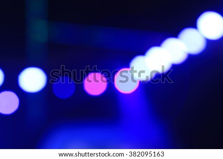 stage lights and fuzzy image, closeup of photo