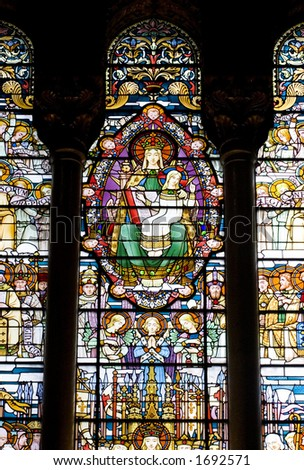 Stained Glass Portraying Virgin Mary