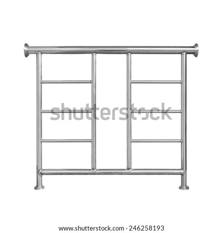 stainless railing isolated on white