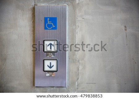 stainless steel elevator panel push buttons for blind and disability people