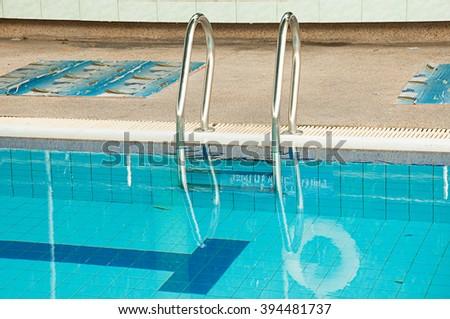 stair and the swimming pool