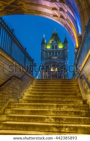 Stairway to the Tower Bridge
