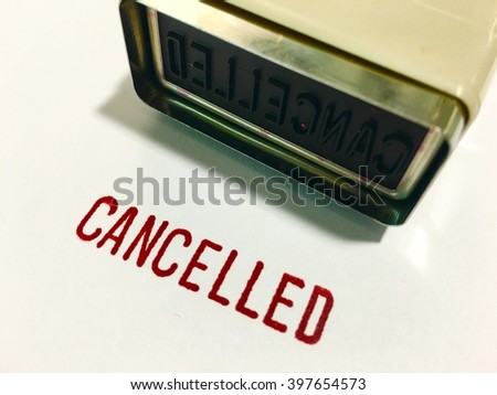 Stamp with Canceled