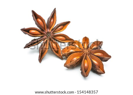 Star anise isolated on the white background