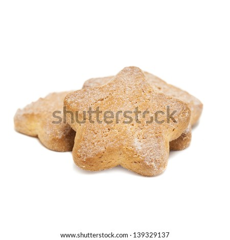 star cookies isolated on white background