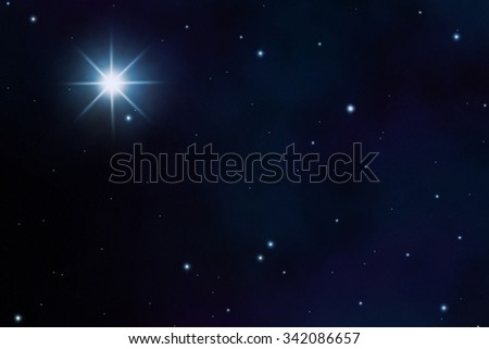 starfield sky with a view of the universe